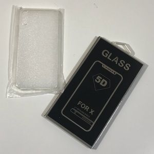 Accessories - 5D glass protector and plastic iPhone X case